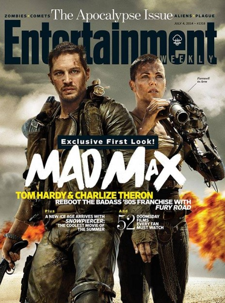 mad max fury road ew cover Tom Hardy Charlize Theron