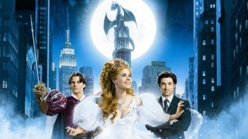 Enchanted banner James Marsden Amy Adams and Patrick Dempsey