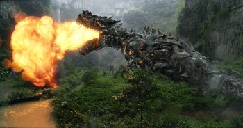 Grimlock breathing fire Transformers age of extinction