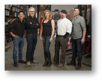 Mythbusters team 2014 photo supplied Discovery Channel