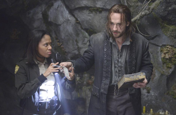 Nicole Beharie as Abbie Mills Tom Mison as Ichabod Crane Sleepy Hollow photo