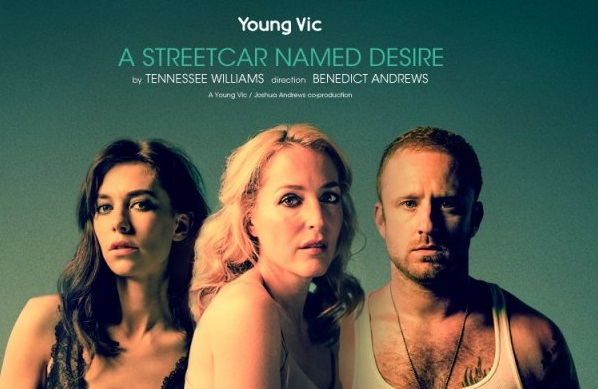 A Streetcar Named Desire banner Vanessa Kirby Gillian Anderson Ben Foster