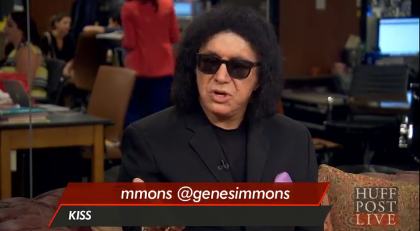 Gene Simmons talks to HuffPo Live, saying immigrants need to learn English  photo/screenshot