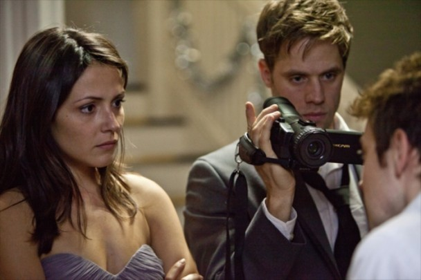 "Italia Ricci and Shaun Sipos in ""The Remaining"""