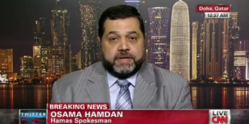 "Hamas leader Osama Hamdan defending ""blood libel"" remarks on CNN"