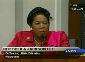 Rep. Sheila Jackson Lee during debate of the impeachment of President Bush in 2008  photo/YouTube