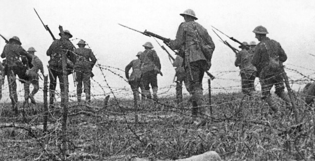 The Battle of the Somme photo by Geoffrey Malins, public domain via wikimedia commons