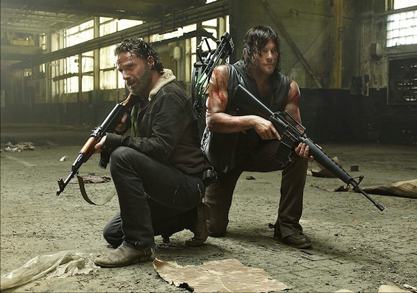 Andrew Lincoln Norman Reedus Walking Dead season 5 photo