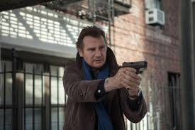 Liam Neeson with gun A Walk Among the Tombstones