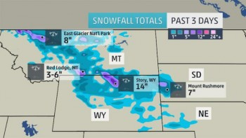 Weather.com graphic snowfall in September 2014