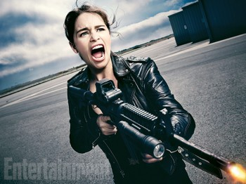 Emilia Clarke Sarah-Connor Terminator Genisys  first photo