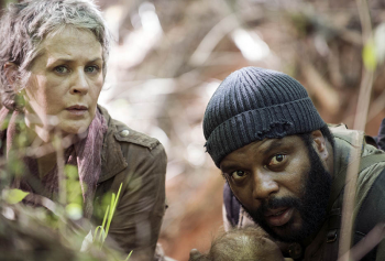Melissa McBride Chad coleman The Walking Dead season 5 photo