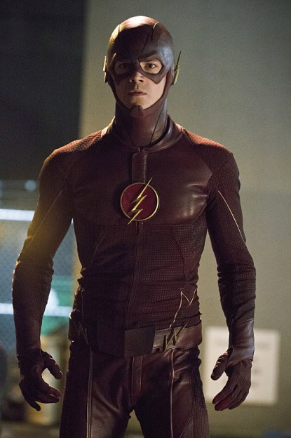 Grant Gustin full photo The Flash in costume