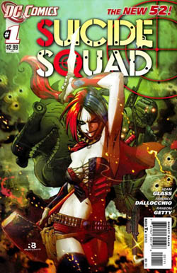 Suicide_Squad_v4-1 comic book cover harley quinn