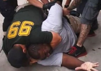 "screenshot YouTube coverage of Eric Garner ""arrest"""