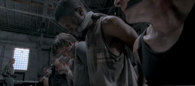 The Walking Dead season 5 premiere trough scene