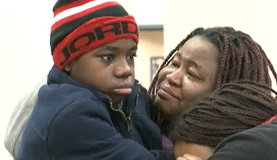 The boy is finally reunited with his mother photo/ screenshot of NBC coverage