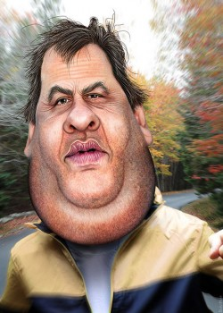 CHris Christie jogging suit donkeyhotey