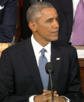 President Obama delivering the 2015 State of the Union address   photo/screenshot whitehouse.gov video