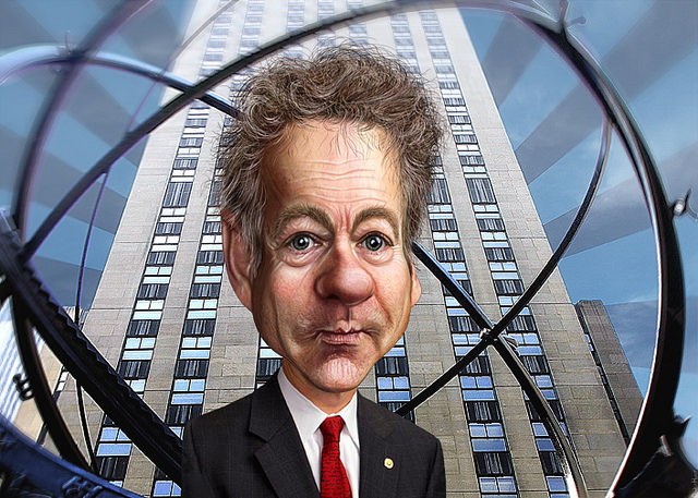 Rand Paul portrait weird disc donkeyhotey