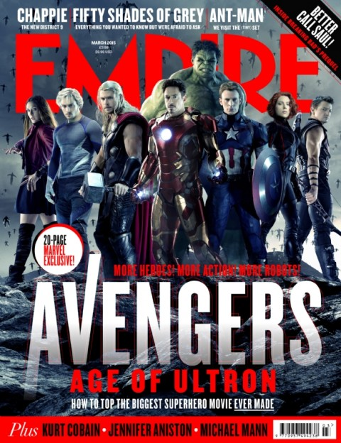 The Avengers team photo Empire magazine cover