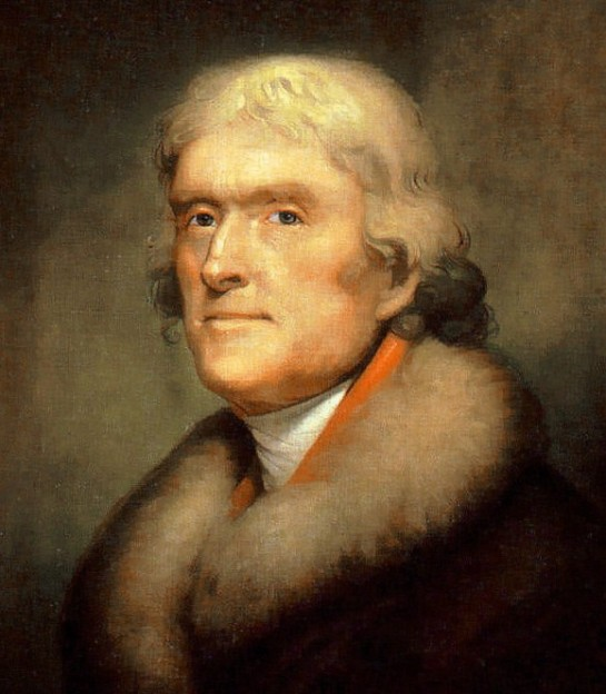 Thomas Jefferson portrait by Rembrandt Peale via New York Historical Society
