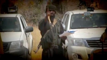 Abubakar Shekau in new YouTube video, threatening the region   photo/ screenshot