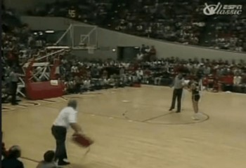 Bobby Knight throwing a chair Indiana vs Purdue 1985