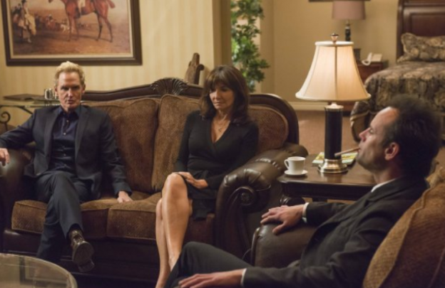 Jere Burns Mary Steenburgen Walton Goggins Justified season 6 photo