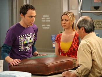 Jim Parsons as Sheldon on Big Bang Theory couch cushion