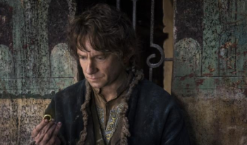 Martin Freeman as Bilbo with ring in Hobbit Battle of the Five armies