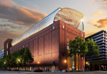 Exterior rendering of the eight-story, 430,000-square-foot Museum of the Bible. Opening in 2017, the museum is being designed by lead architect group Smith Group JJR, whose portfolio includes the International Spy Museum, the Smithsonian's National Museum of the American Indian, and the National Museum of African American History and Culture. (Photo credit: Smith Group JJR)