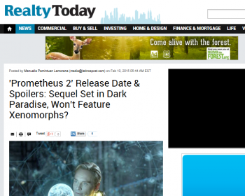 screenshot of Realty Today covering Prometheus news
