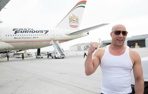 Fast & Furious 7 plane Vin Diesel photo