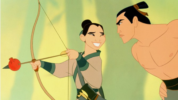 Mulan photo bow arrow apple
