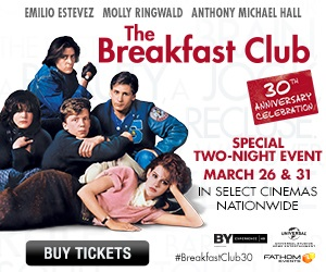 The Breakfast Club in theaters fathom events banner