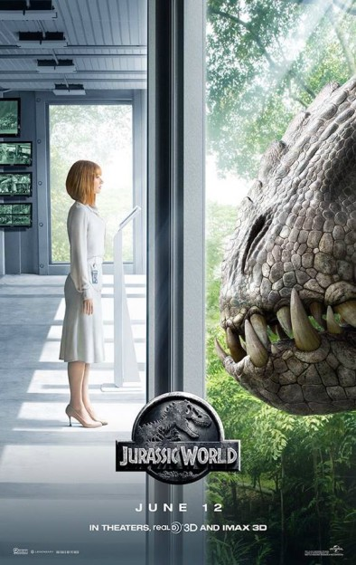 Bryce Dallas Howard Indominus Rex Jurassic World movie poster