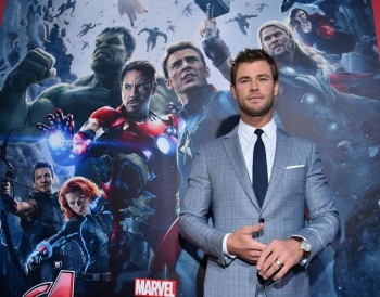 """Hemsworth at the world premiere of Marvel's """"Avengers: Age Of Ultron"""" at the Dolby Theatre on April 13, 2015 in Hollywood, California."""