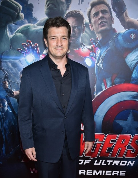 """Nathan Fillion attends the world premiere of Marvel's """"Avengers: Age Of Ultron"""" at the Dolby Theatre on April 13, 2015 in Hollywood, California."""