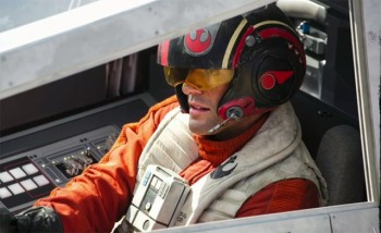 Oscar Isaac in X-Wing Star Wars Force Awakens photo