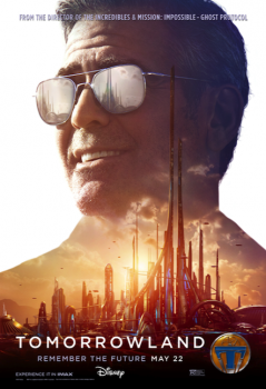 Tomorrowland George Clooney die cut poster