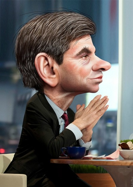 George Stephanopoulos photo - donkey hotey
