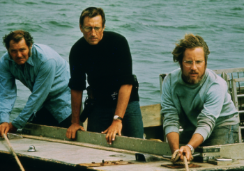 Jaws photo Robert  Shaw Roy Scheider Richard Dreyfuss