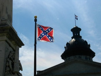 Confederate Flag flying over South Carolina capitol building
