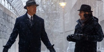 "Hanks and Spielberg on set of ""Bridge of Spies"""