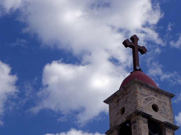 cross on top of church photo/ Heather Truett via pixabay