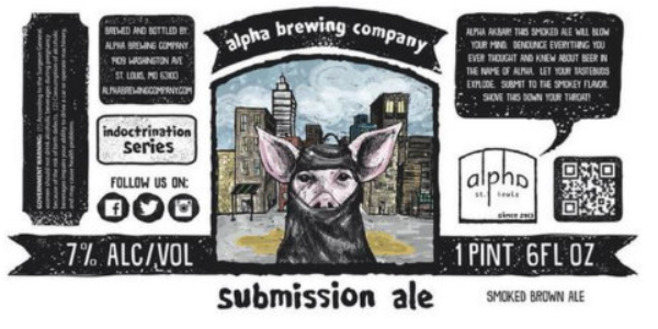 Beer Submission Ale pig in hijab insulting Islam beer label