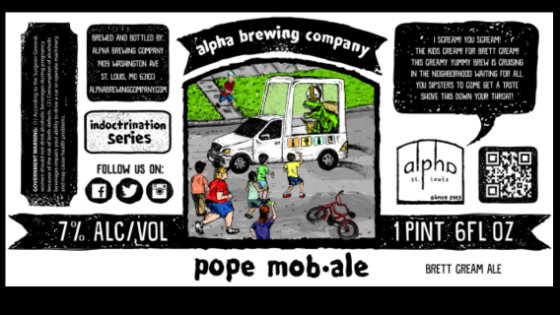 Beer mocking the Pope Pope Mob ale beer label