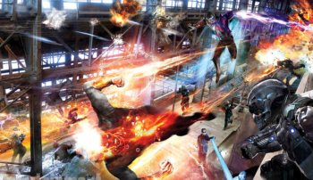Legends of Tomorrow concept art team in action