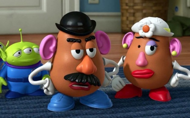 toy-story-mr potato head mrs potato head little green man